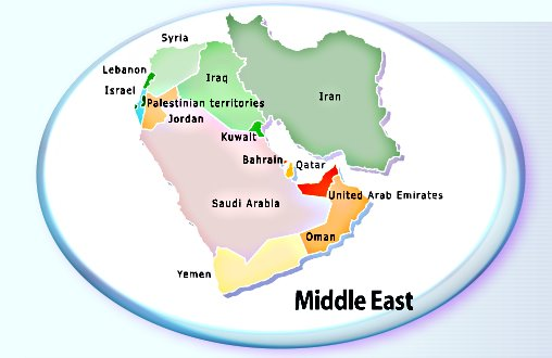 Hostels And International Backpackers Hostels And Hotels In - World map middle east